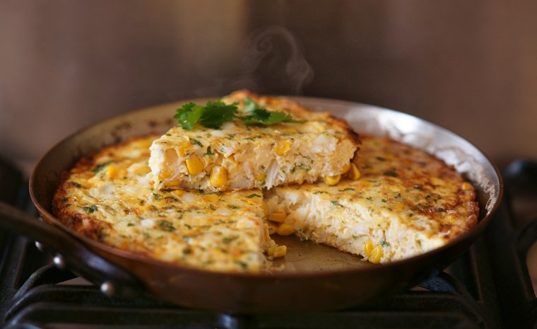 Crab & Corn Frittata