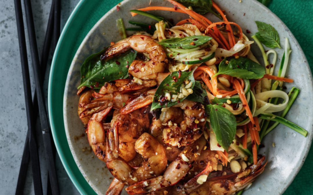 Australian prawn and zucchini pad thai