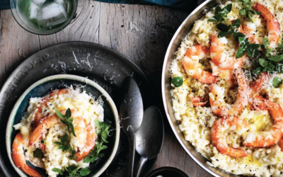 Australian prawn and fennel risotto
