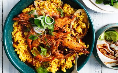 One pot prawn paella