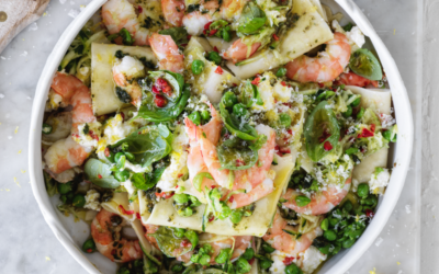 Prawn and zucchini free form summer lasagne