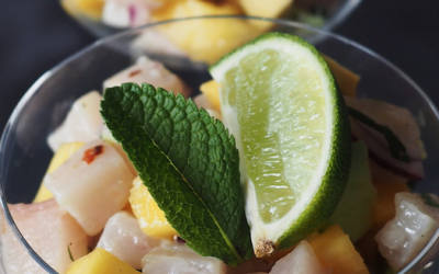 Pez Limon Ceviche with Mango and Avocado