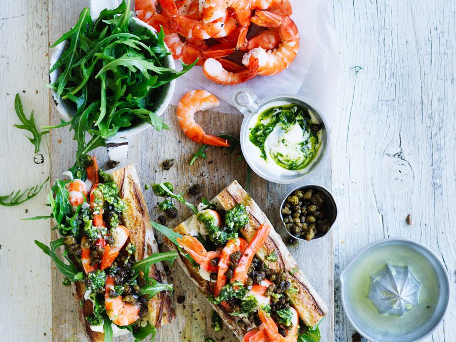 Super Simple prawn baguette