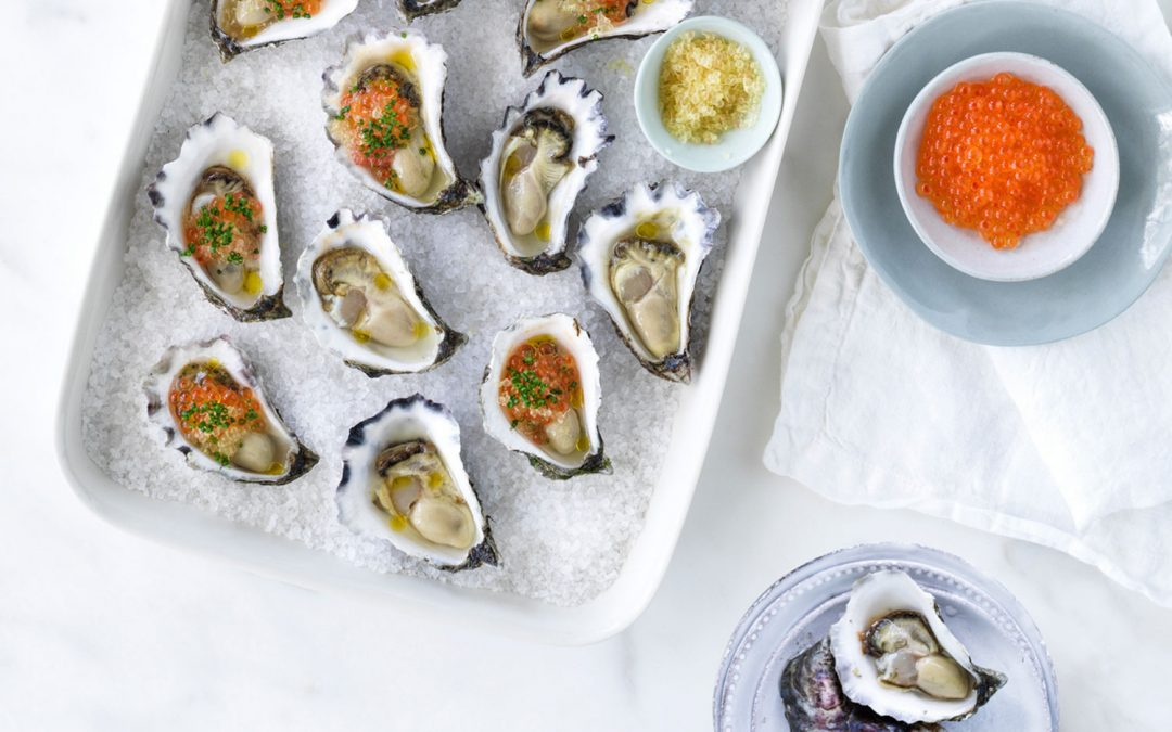 Easy As Australian Rock Oysters with caviar