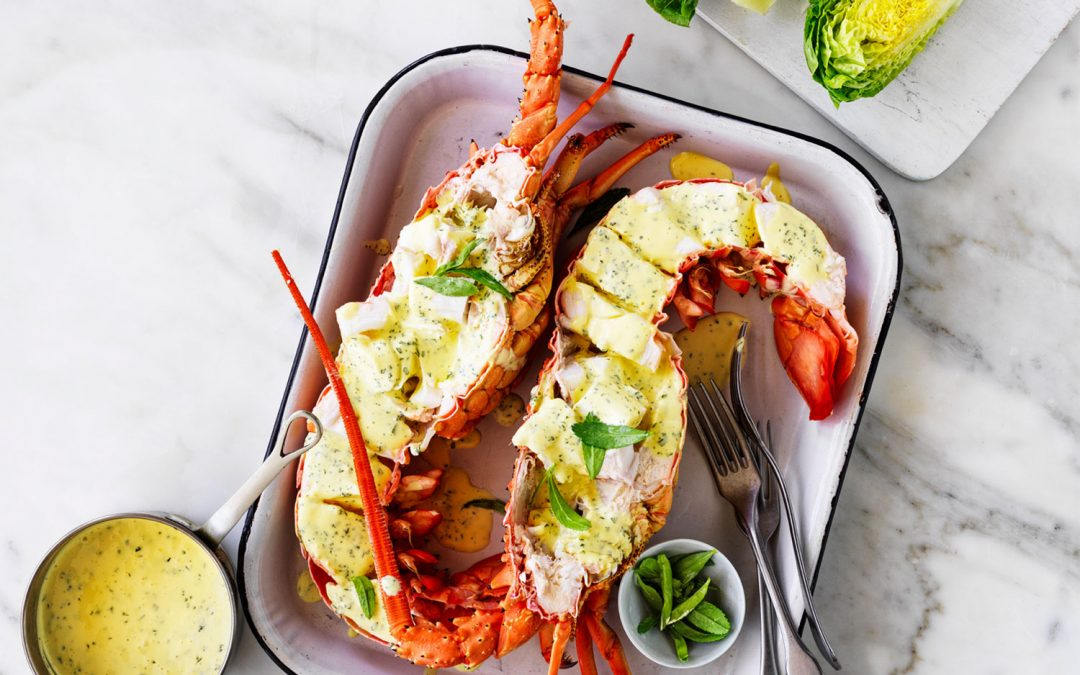 Easy As Australian Lobster with lemon and tarragon butter