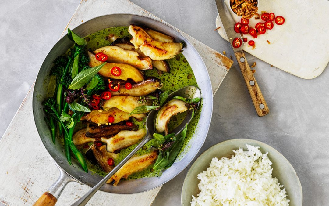 Easy As Australian Abalone in Green Curry