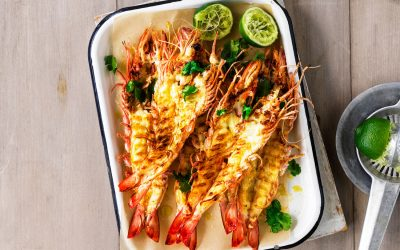 Easy As BBQ Aussie Prawns with Sriracha Mayo
