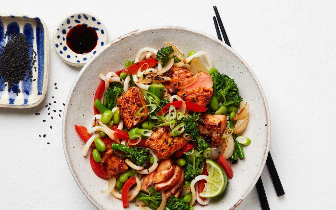 Tasmanian Atlantic Salmon Stir Fry with Udon Noodles