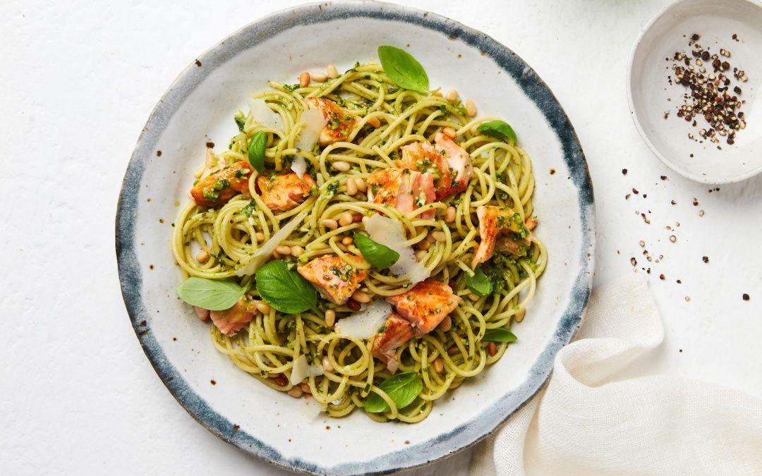 Tasmanian Atlantic Salmon Pesto Spaghetti