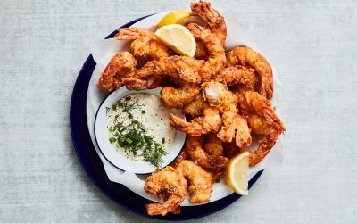 Southern fried Australian King Prawns